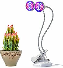 Led Double Grow Lights Aokey 14W Profession Pflanze Lampe für Indoor Pflanzen Clip Schreibtischlampe mit 360 Grad für Indoor-Pflanzen Hydroponic Garden Greenhouse