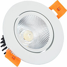 LED-Downlight Strahler COB Schwenkbar Rund 7W