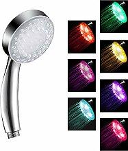 LED-Duschkopf mit Farbwechsel, Hochdruck-Duschkopf