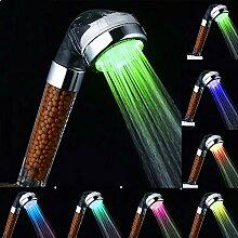 LED Duschkopf, TKSTAR Hochdruck Duschkopf 7 Farben