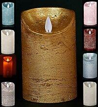 LED Echtwachskerze Kerze Farbauswahl Timer