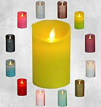 LED Echtwachskerze Kerze viele Farben mit Timer