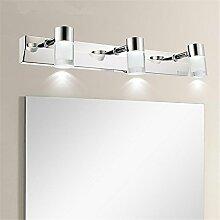 LED Edelstahl Kristall Bad WC Spiegel-Leuchte