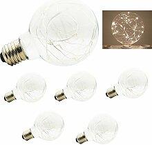 LED Edison Birne 5 x G80 Globe Vintage Glühbirne