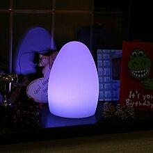 LED Ei Licht, 19cm Farbwechsel Stimmungslampe Sensory Night Tischleuchte für Kind Schlafzimmer mit Fernbedienung von PK Green
