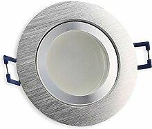 LED Einbau-Strahler edelstahl - rund 6,5 Watt