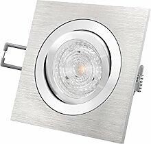 LED Einbau-Strahler QF-2 schwenkbar Aluminium