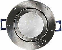 LED Einbau-Strahler silber - rund 6,5 Watt