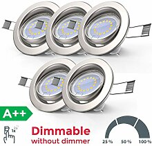 LED Einbauleuchte dimmbar inkl. 5x 5W 400lm LED