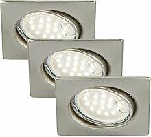 LED Einbauleuchte, Einbaustrahler Set, LED 3x5W