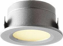 LED Einbauleuchte in Silber 1W 12V 40lm IP44