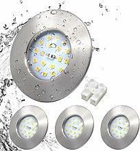 LED Einbauleuchte set ultra Flach IP44
