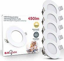 LED Einbauleuchte Ultra Flach Ø85mm Inkl. 5 X 5W