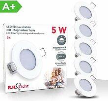 LED Einbauleuchte ultra flach Ø85mm weiß inkl. 5
