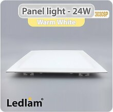 LED Einbauleuchte weiß 24 Watt quadratisch