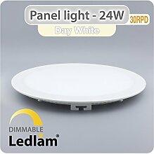 LED Einbauleuchte weiß 24 Watt rund 30cm neutral