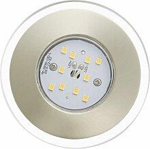 LED Einbauleuchten 3er Set, matt-nickel - Briloner