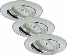 LED Einbauleuchten Attach alu, 3er Set - Briloner
