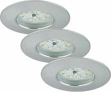 LED Einbauleuchten Attach Aluminium, 3er Set -