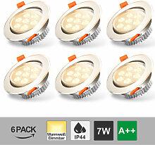 LED Einbauleuchten schwenkbar ultra flach inkl. 8