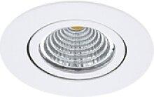 LED-Einbauspot Saliceto rund drehbar 4.000K weiß