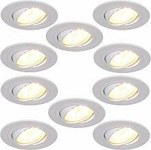 LED-Einbaustrahler 10er Set 5W   Einbauleuchte