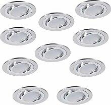 LED-Einbaustrahler 10er Set rund | Einbauleuchte