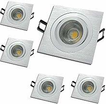 LED Einbaustrahler 12V inkl. 5 x 5W LED LM