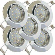 LED Einbaustrahler 12V inkl. 5 x 5W SMD LM Farbe
