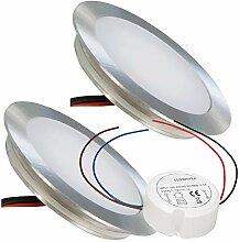 LED Einbaustrahler 12V Ultra flach 2 x 0.5W