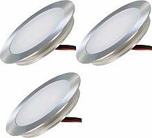 LED Einbaustrahler 12V Ultra flach 3 x 0.5W