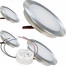 LED Einbaustrahler 12V Ultra flach 4 x 0.5W