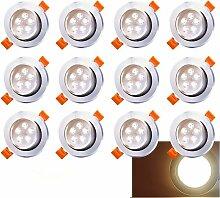LED Einbaustrahler 12x 5W Warmweiß 3200K LED