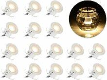 LED-Einbaustrahler, 16PCS LED-Strahler für
