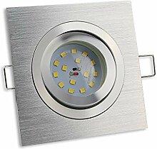 LED Einbaustrahler 1er eckig 7 Watt dimmbar