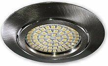 LED Einbaustrahler 230 V S0307 alu gebürstet -