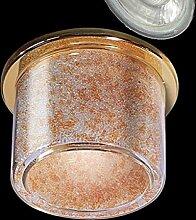 LED Einbaustrahler 230 Volt Einbauleuchte 450lm SMD COB 38° GU10 2622OR Glasperlen Strahler Spot warmweiß
