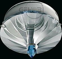 LED Einbaustrahler 230 Volt Einbauleuchte 5 W GU10 1201CR Glasplatte Strahler Spot (Daylight)weiß