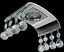 LED Einbaustrahler 230 Volt Einbauleuchte 5 W GU10 1711GR Kristallglas Strahler Spot warmweiß