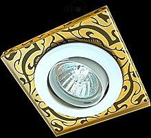 LED Einbaustrahler 230 Volt Einbauleuchte 5 W GU10 2711OR Glas Design Strahler Spot warmweiß