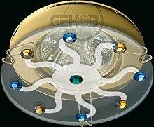LED Einbaustrahler 230 Volt Einbauleuchte 5 W GU10 2726OR Glas Design Strahler Spot (Daylight)weiß