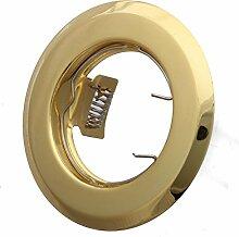 LED Einbaustrahler 230 Volt Einbauleuchte 5 W GU10 hg03-3 Gold Strahler Spot warmweiß