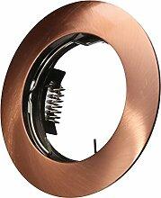LED Einbaustrahler 230 Volt Einbauleuchte 5W dimmbar GU10 hg84-7 Kupfer Strahler Spot warmweiß
