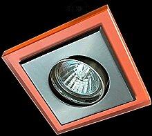 LED Einbaustrahler 230 Volt Einbauleuchte 5W GU10 1733NA Glas Strahler Spot warmweiß