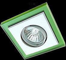 LED Einbaustrahler 230 Volt Einbauleuchte 5W GU10 1755VE Glas Strahler Spot warmweiß