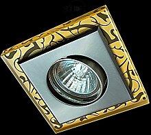 LED Einbaustrahler 230 Volt Einbauleuchte 5W GU10 1793AM Glas Strahler Spot (kalt)weiß