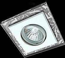 LED Einbaustrahler 230 Volt Einbauleuchte 5W GU10 1811GR Glas Strahler Spot (kalt)weiß