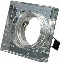 LED Einbaustrahler 230 Volt Einbauleuchte 8W matt GU10 1328-1 Kristall Strahler Spot warmweiß