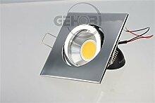 LED Einbaustrahler 230 Volt Einbauleuchte 8W matt GU10 632CVE Kristall Strahler Spot (kalt)weiß