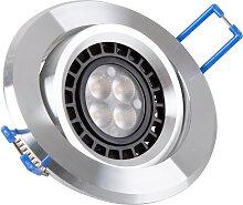 LED Einbaustrahler 230V 4,5W Warmweiß GU10 Alu